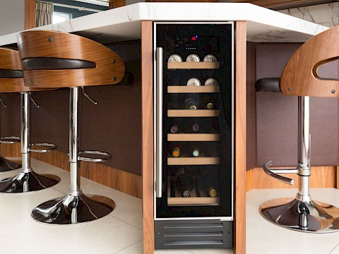 Callum Walker Interiors wooden kitchen wine cooler