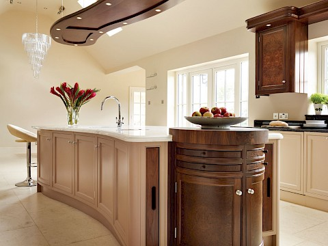 Callum Walker Interiors curved kitchen