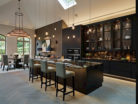 Callum Walker Interiors Classic Valencia dark kitchen