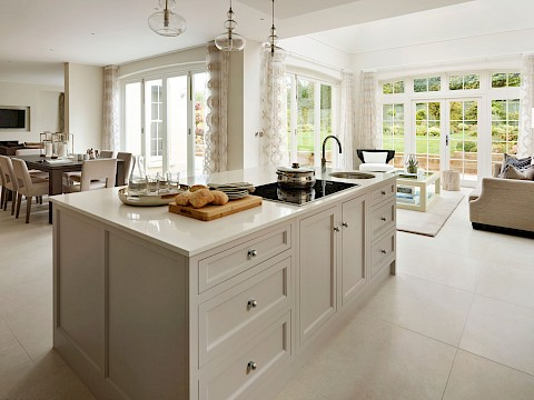 Callum Walker Interiors Classic white kitchen island