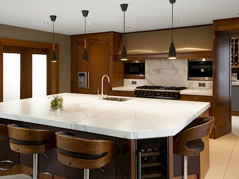 Callum Walker Interiors wooden kitchen