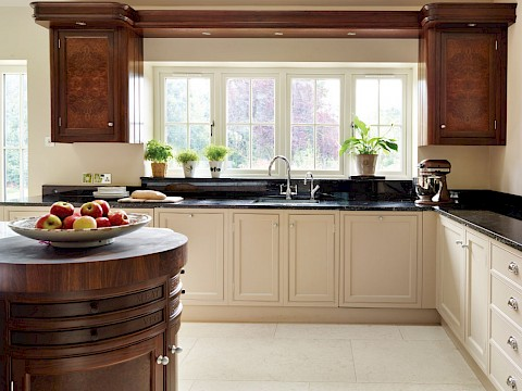 Callum Walker Interiors dark and light kitchen
