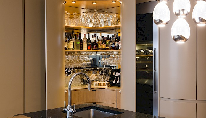 Bespoke Curved Kitchen Bar Design Perth | Fife | Scotland